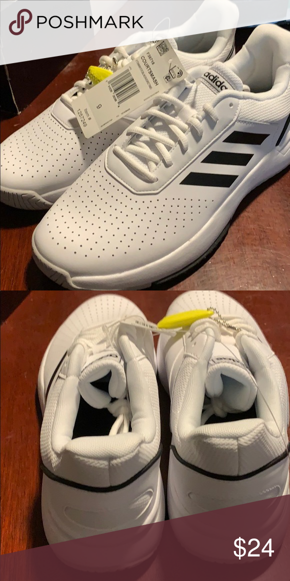 Men S Tennis Shoe By Adidas Size 9 And White Tennis Shoes Shoes Sneakers Adidas Mens Tennis Shoes