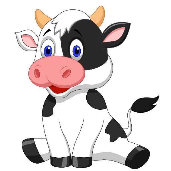 Funny Farmyard Cows Clip Art Images Are On A Transparent ...