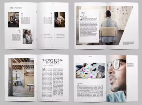 Minimalist Magazine Layout | Book Design | Indesign ...