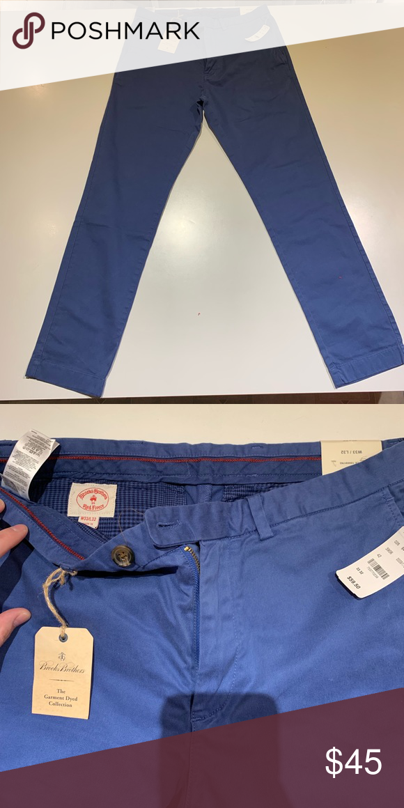 d72736f94a Brooks Brothers - Slim-Fit Stretch Chinos W33 L32 Red Fleece Slim-Fit  Garment-Dyed Stretch Chinos Color - Blue - W 33 L 32 Never worn, very good  condition ...