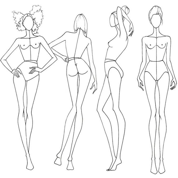 картинки моделей как рисовать себя чувствует чистых