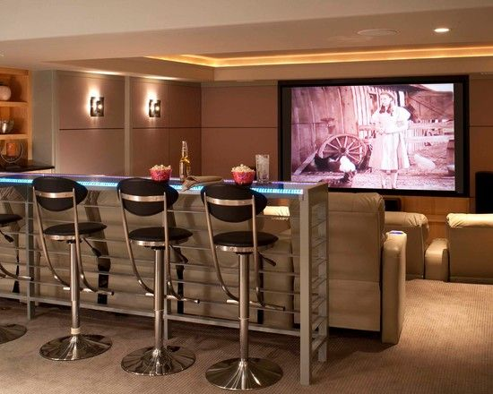 Entertainment Room Contemporary Entertainment Room Ideas For Home Theater Also Modern Bar Table Style W Home Theater Rooms Bars For Home Home Theater Lighting