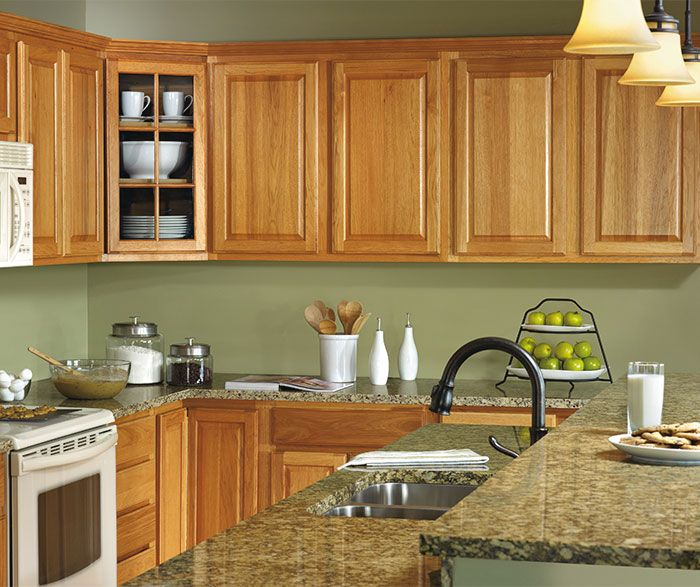 Hickory kitchen cabinets by aristokraft cabinetry Kitchen colors with natural wood cabinets