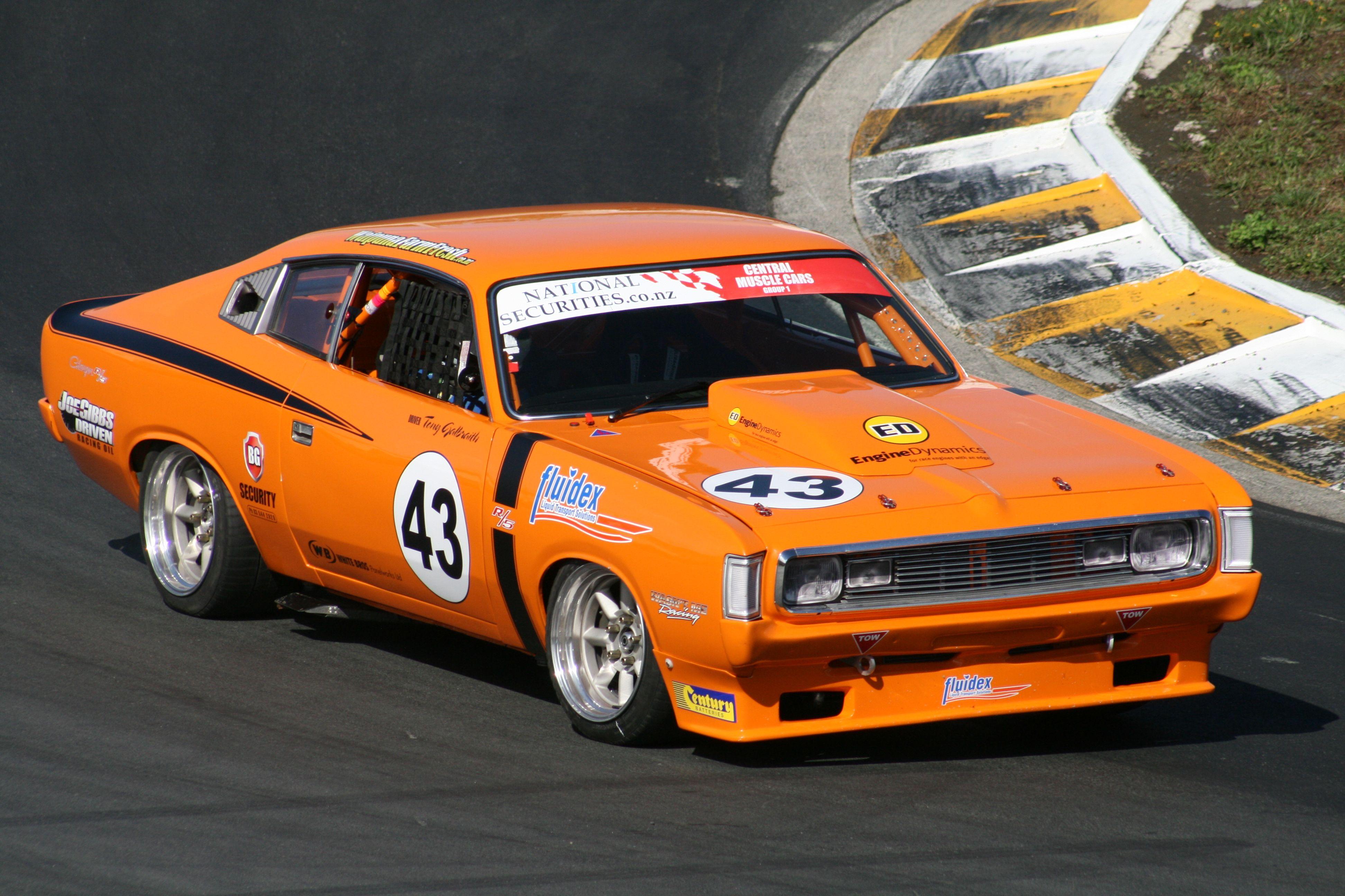 Tony Gailbrath in his Vailant Charger racing at Hampton