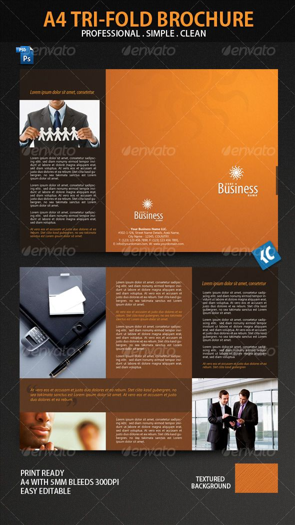 Clean And Professional ATriFold Brochure Tri Fold Brochure - A4 tri fold brochure template