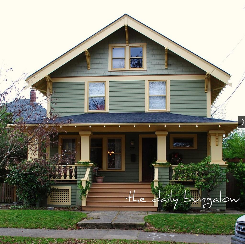 Exterior House Trim: Craftsman Bungalow Colors