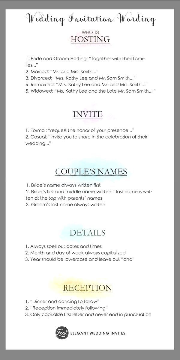 Wonderful Pictures Dinner Invitation Wording Ideas Given That In 2020 Wedding Ceremony Invitations Simple Wedding Invitation Wording Wedding Invitation Etiquette Words