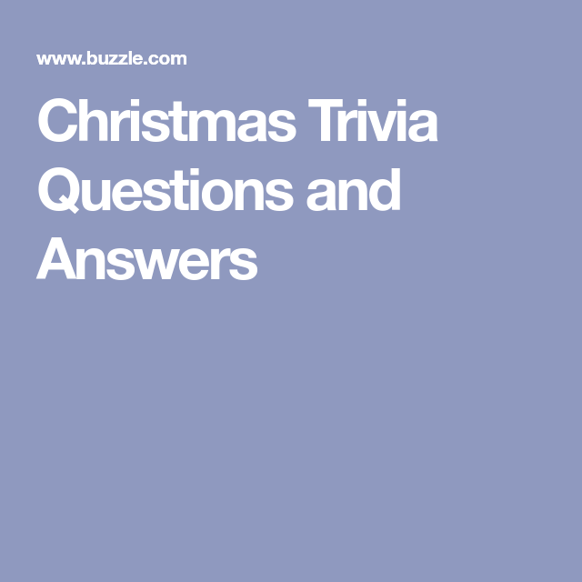 christmas trivia questions and answers pdf