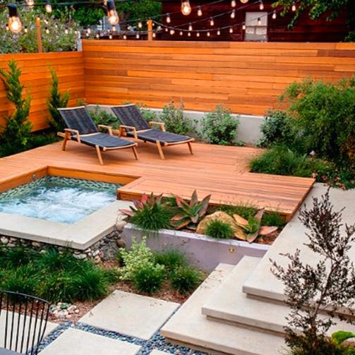 Pin de cindy garcia en jardiner a terraza jardin for Jardineria al aire libre casa pendiente