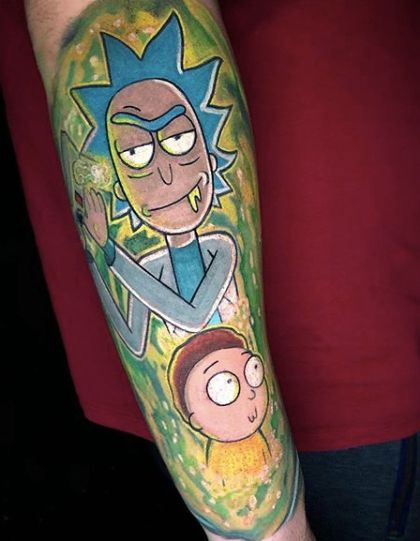 Best 40 Rick and Morty Fan Tattoos – NSF – Music Magazine