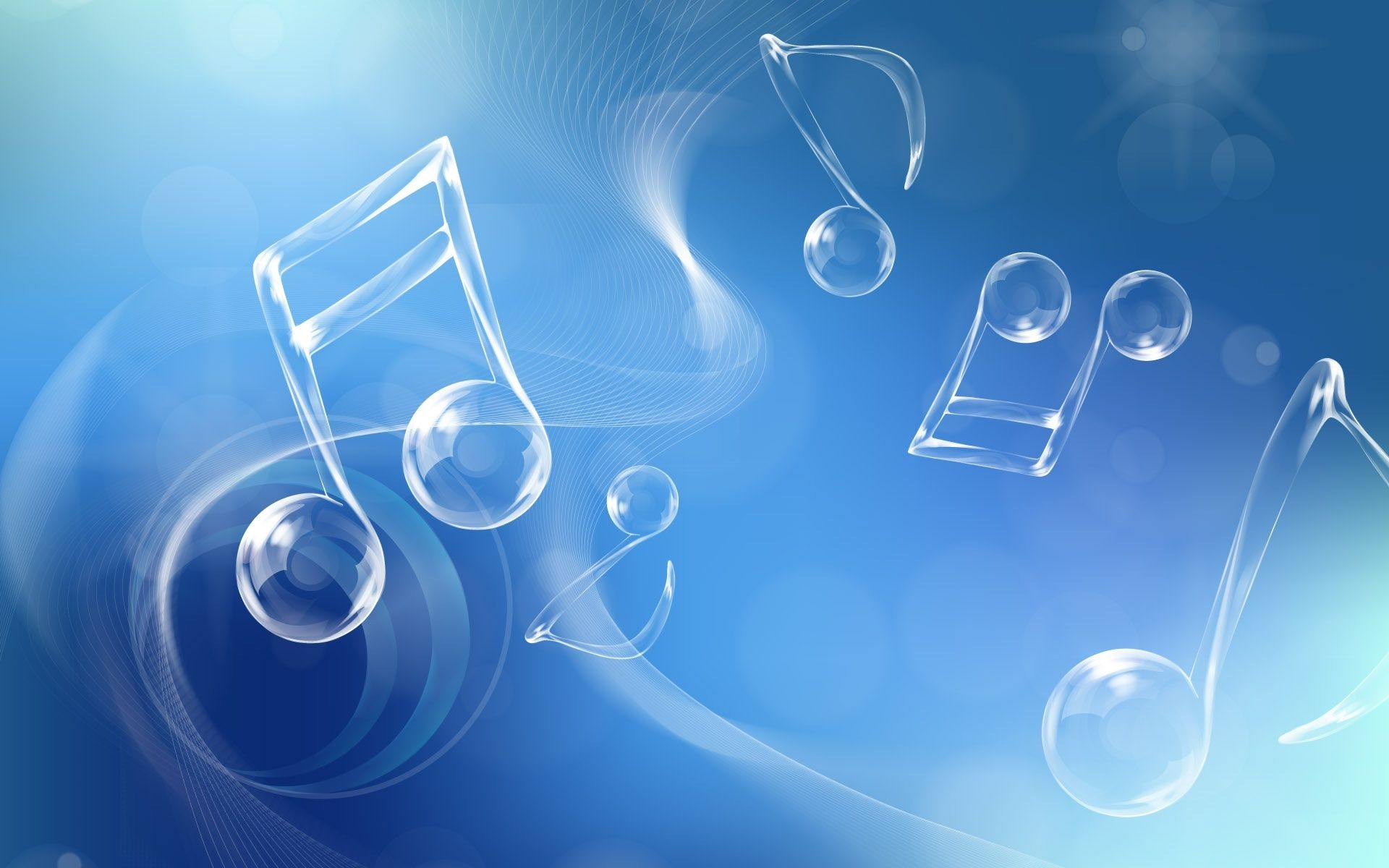 blue music wallpaper presentation backgrounds