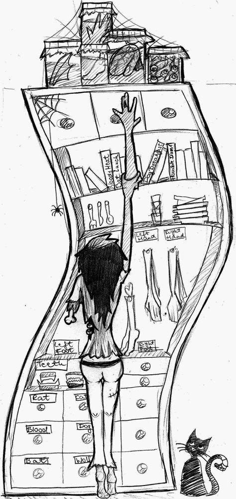 school sketch - zombie poliip by poliip.deviantart.com on @deviantART