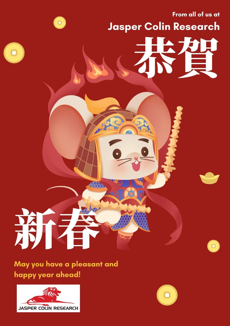 Happy Chinese New Year 2020 From Jasper Colin Research
