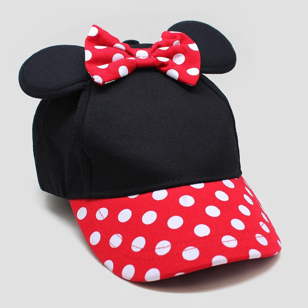 0f1b9cc09e8 Toddler Girls  Minnie Mouse Baseball Hat - Black Red One Size
