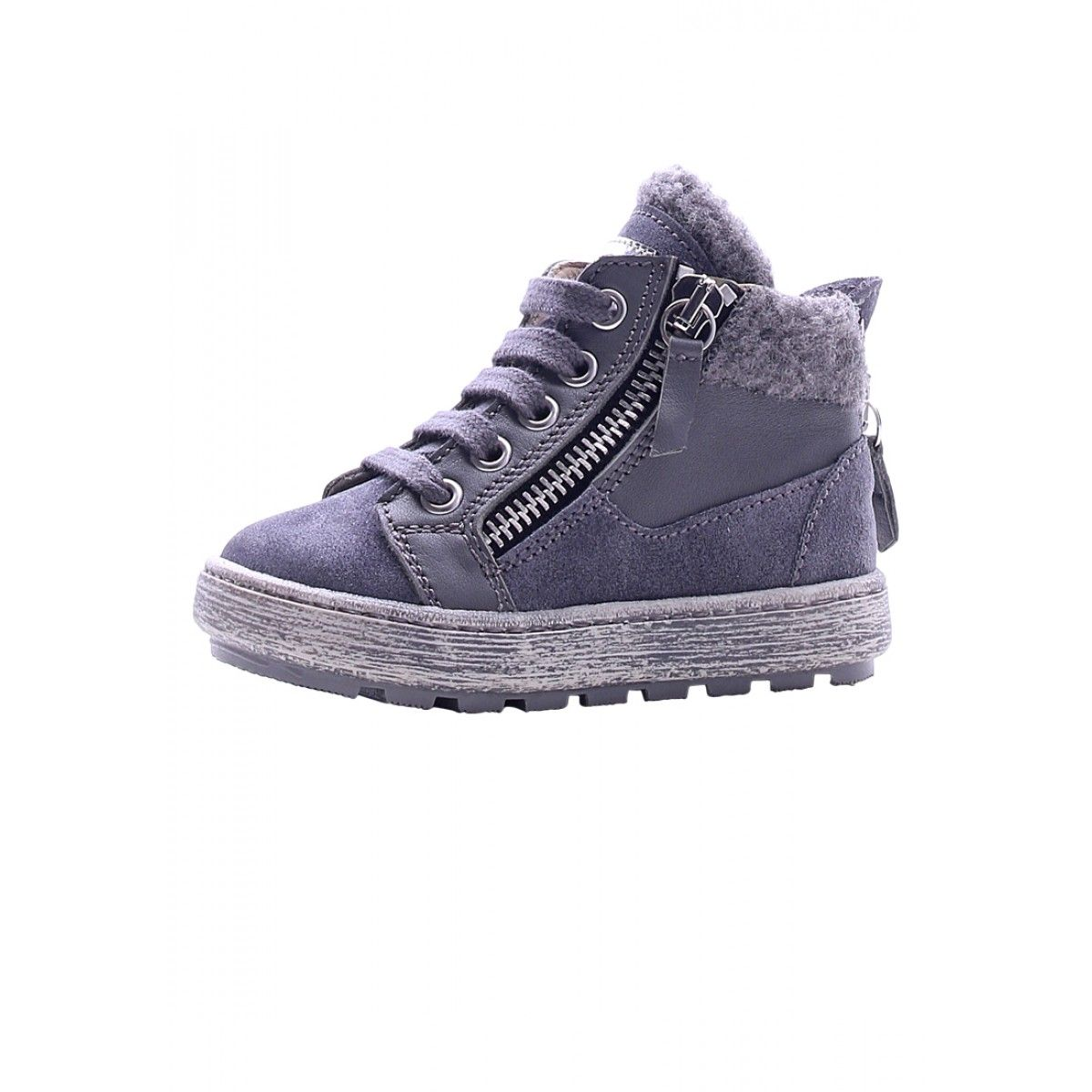 NATURINO 4197 - Leather sneakers – Grey - Sneakers - Girl