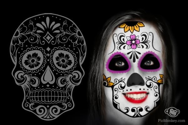 Tutorial Day Of The Dead Day Of The Dead Pinterest Day Of The