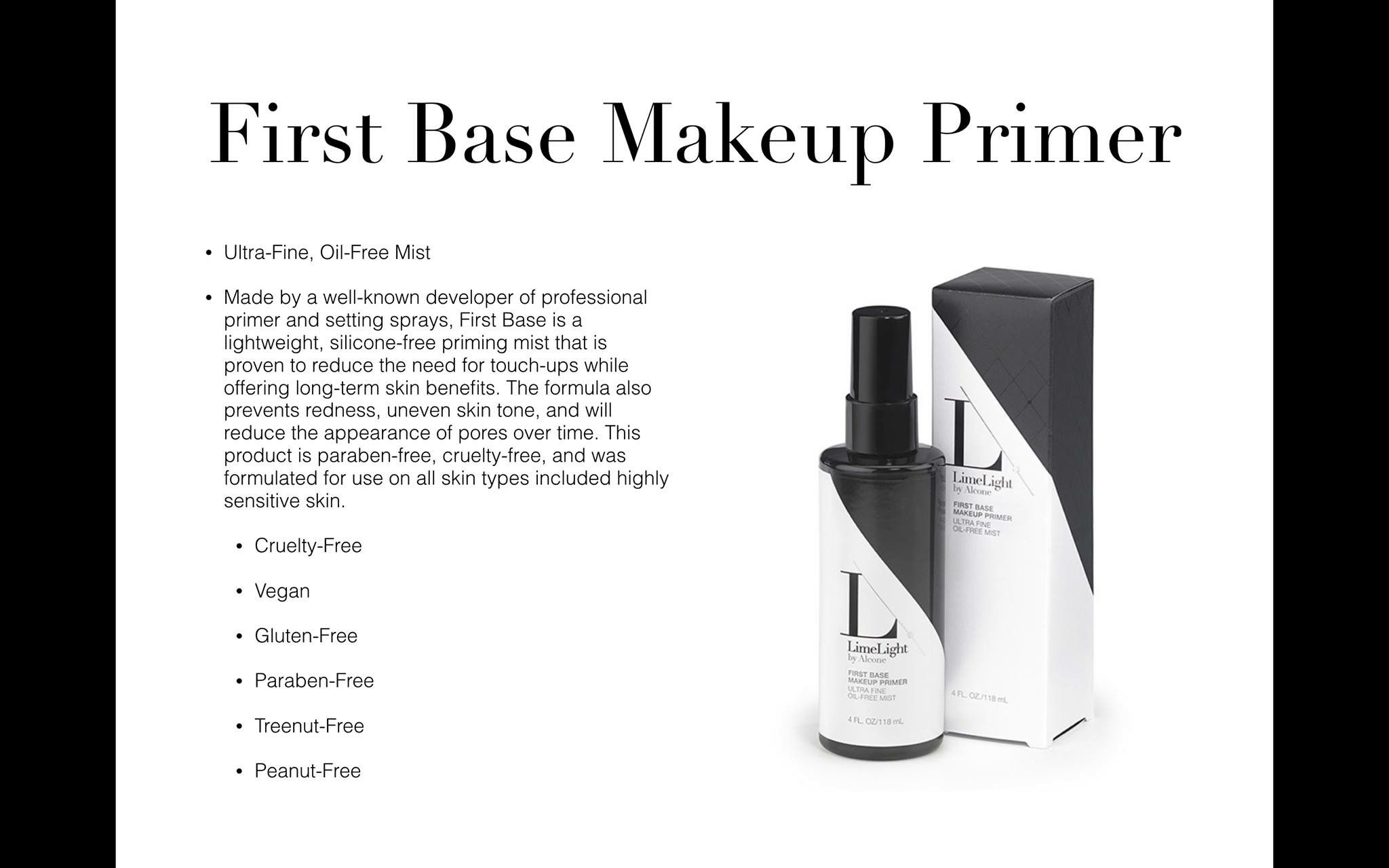 Primer Base foundation Limelight by Alcone Finishing