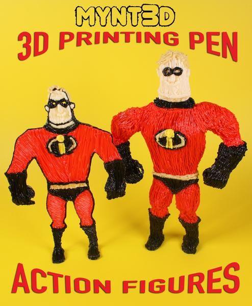 Action Figures 3D Pen Tutorial   Kids To Do   3d pen, Drawing