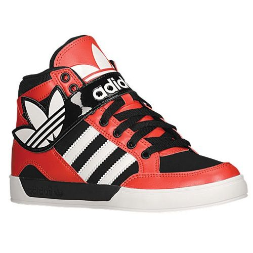 Classical Casual Shoes - Mens adidas Originals Hard Court Hi Strap Collegiate Red/Running White/Black