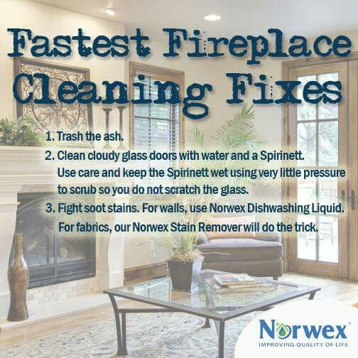 Fireplace cleaning safely