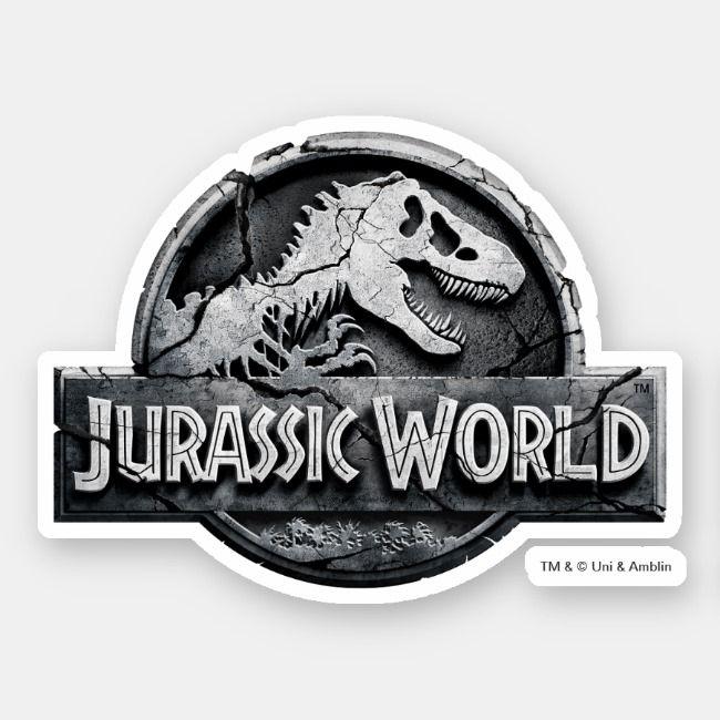 Jurassic World Logo Sticker Zazzle Com Jurassic World Lego Jurassic World Jurassic