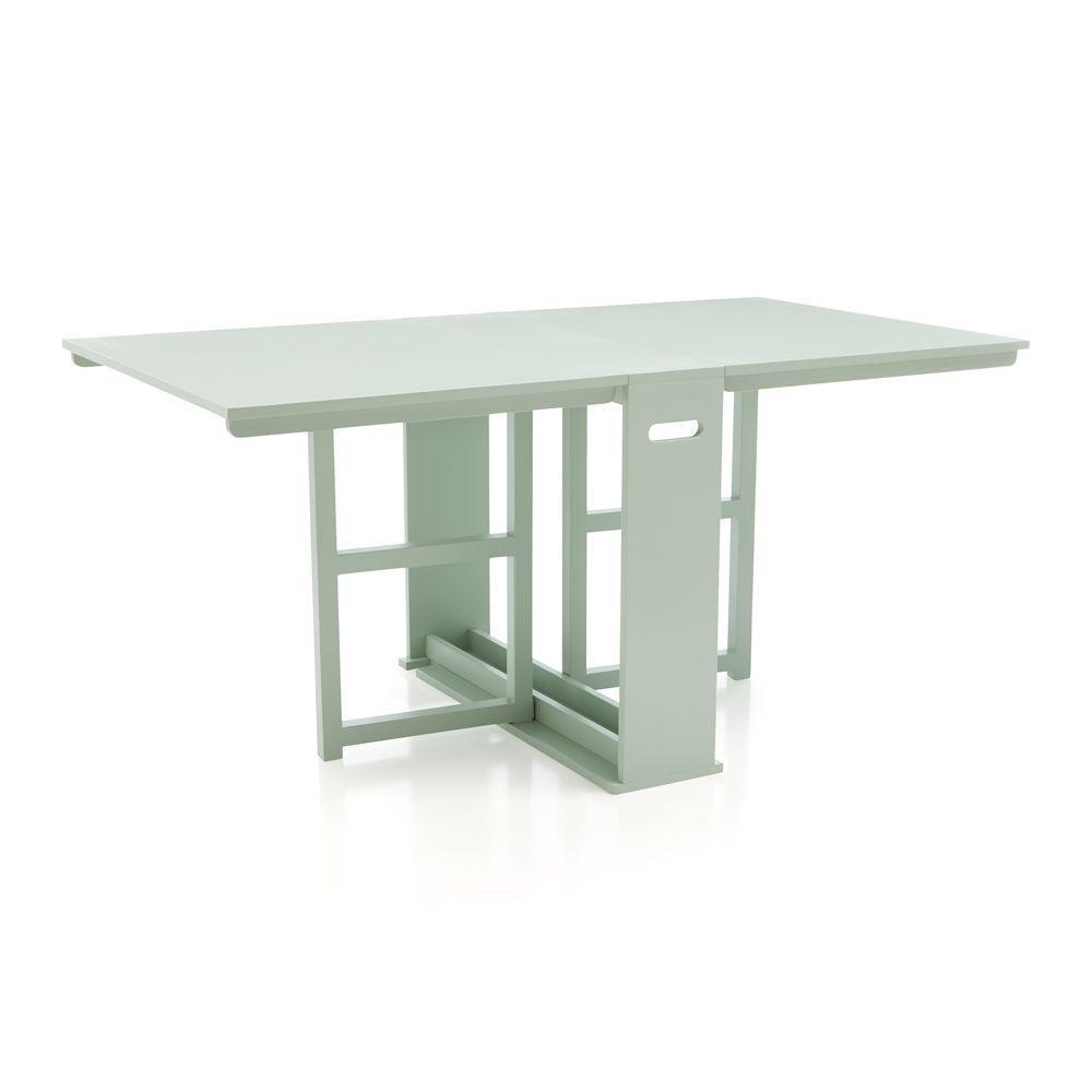 Span Mint Gateleg Dining Table Crate Barrel Dining Table Expandable Dining Table Drop Leaf Table