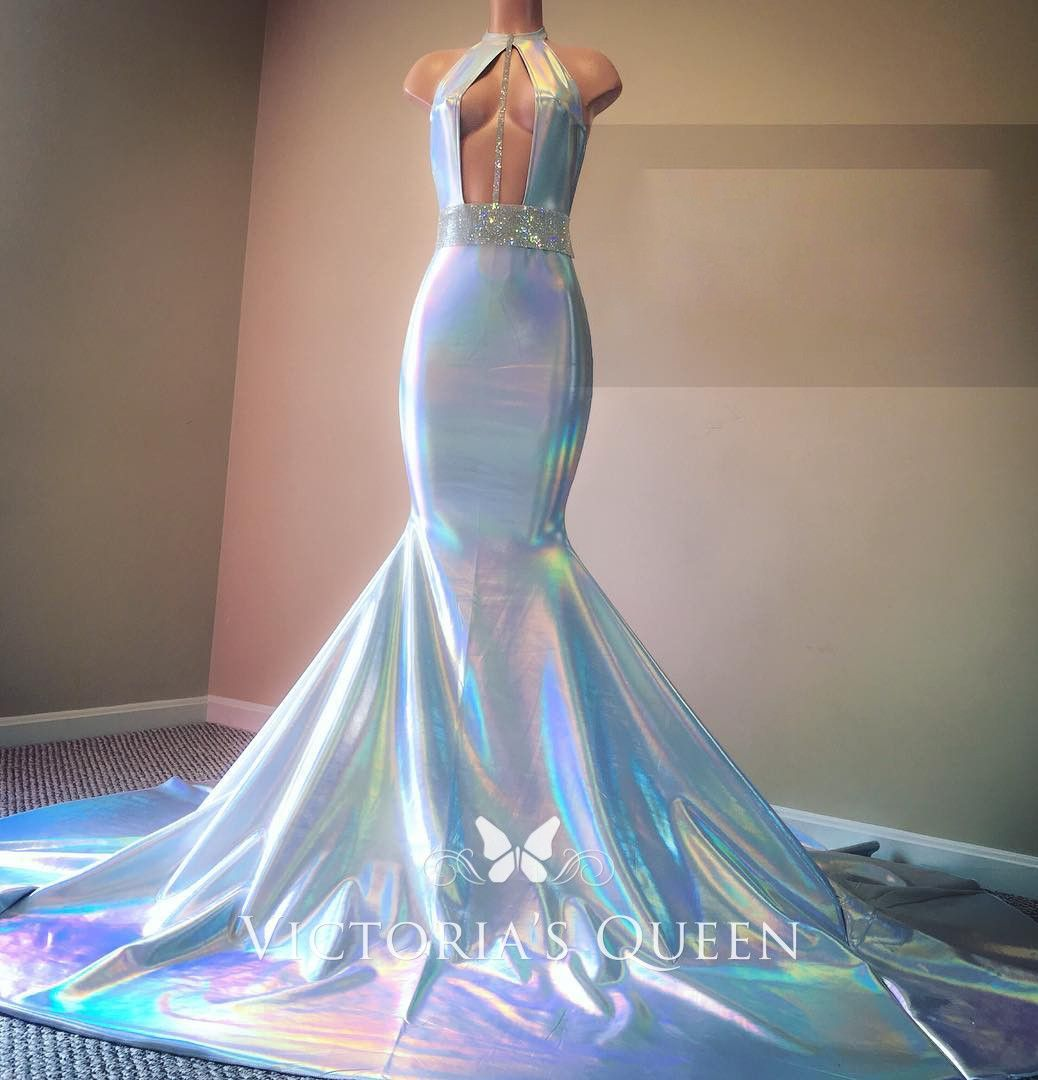 Shiny Reflective Open Bodice Long Train Prom Dress Prom Girl Dresses Prom Dress With Train Prom Outfits [ 1080 x 1038 Pixel ]