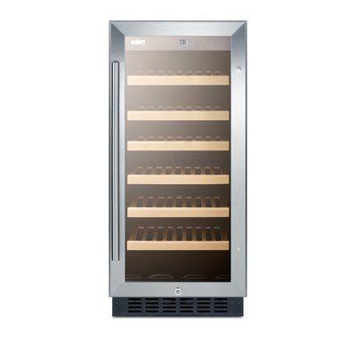 Summit Appliance 33 Bottle Single Zone Built-In Wine Refrigerator