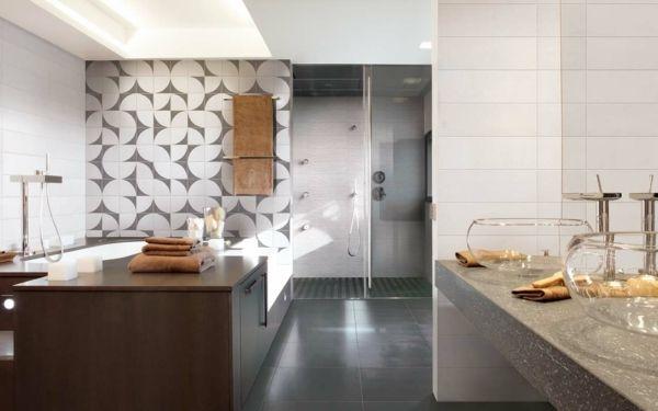 Grau Weiße Badezimmer Fliesen Design Ideen Wand | Bäder ... Design Ideen Furs Bad
