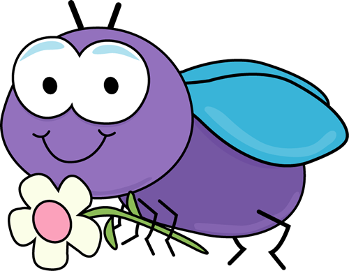 Fly With A Flower Clip Art Image Cute Cartoon Fly Holding A White Clip Art Art Drawings For Kids Free Clip Art