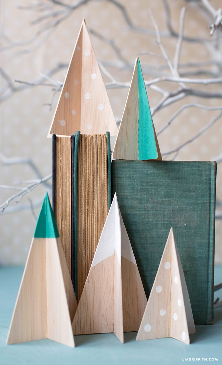 Diy Balsa Wood Christmas Tree Lia Griffith Homemade Christmas Decorations Wood Christmas Tree Wall Christmas Tree