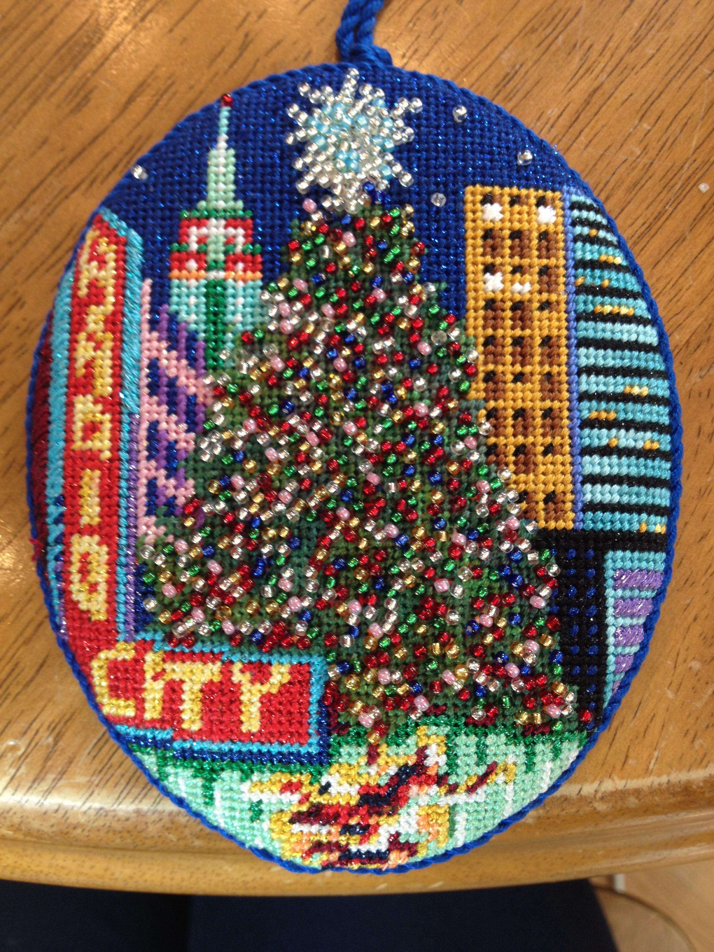 Beautiful Use Of Beads Dj Designs Nyc Needlepoint Christmas