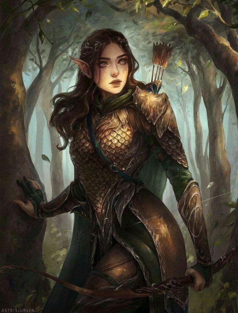 Female Fantasy Elf Art