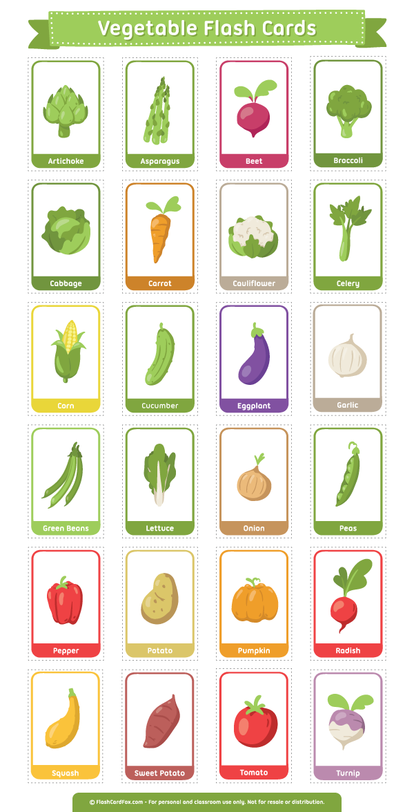 photograph about Printable Pictures of Vegetables titled Pin via Muse Printables upon Flash Playing cards at