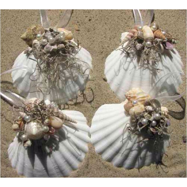 Seashell ornaments | Seashell christmas ornaments ...