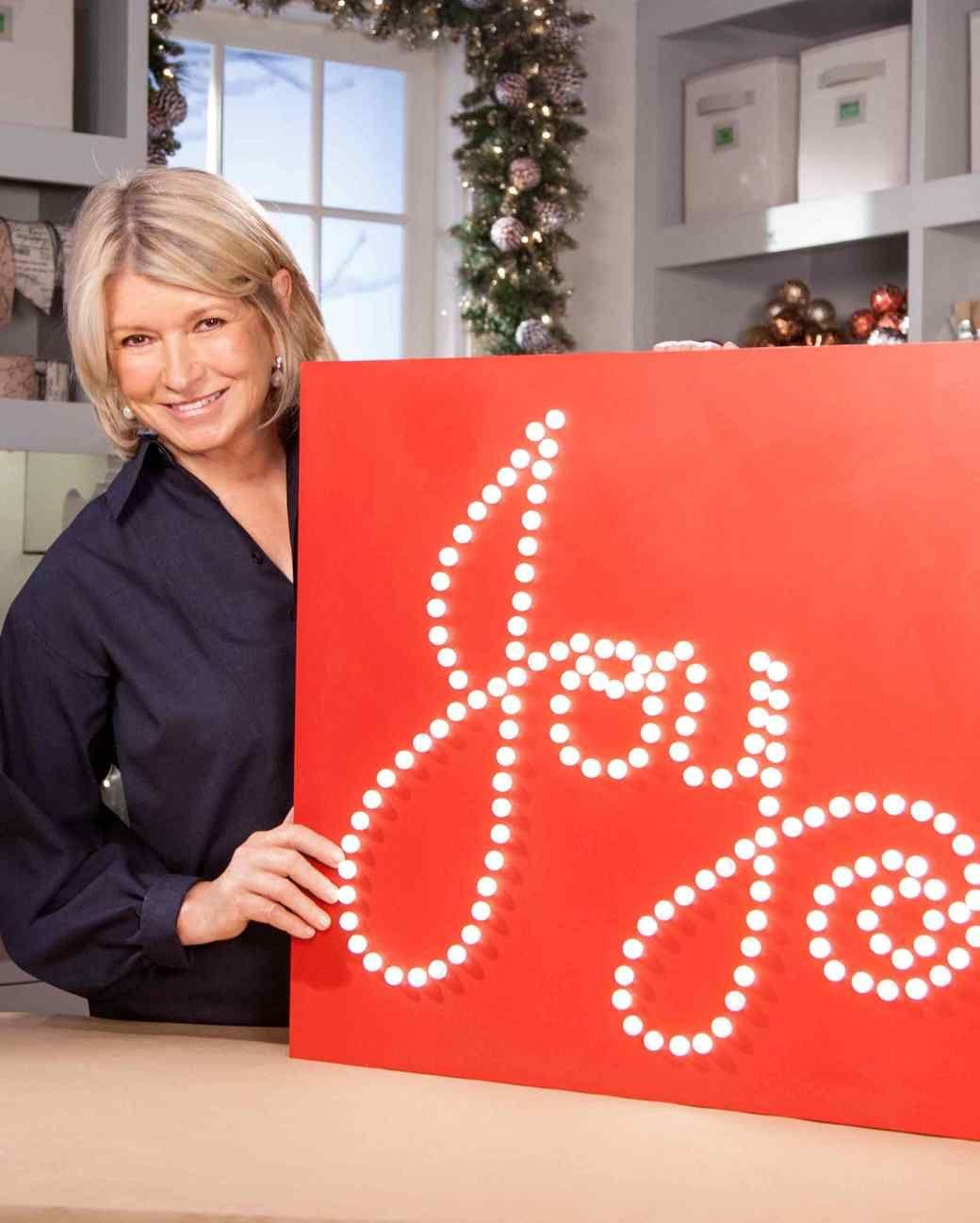 Joyful Lighted Holiday Sign How-To  Diy christmas lights