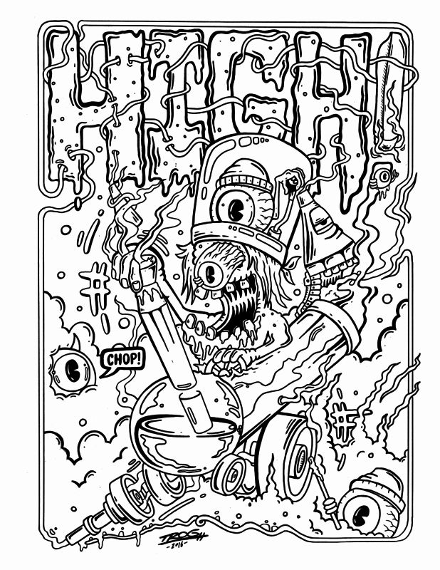 Stoner Coloring Pages for Adults in 2020 | Bear coloring ...