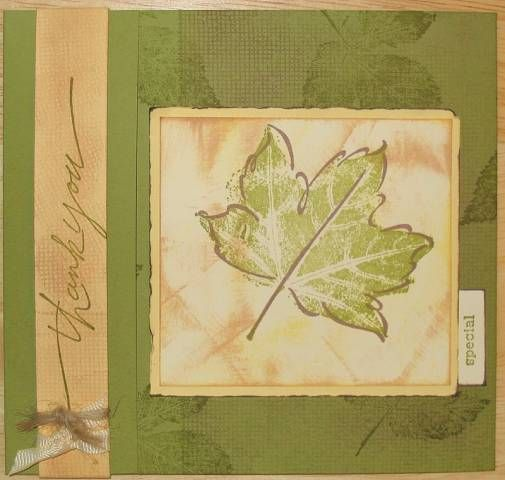 Lovely Leaves Matchbook Card