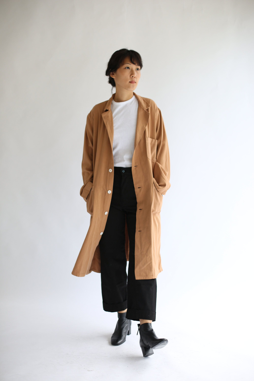87473974fca5 Vintage Almond Brown Overdye Shop Coat