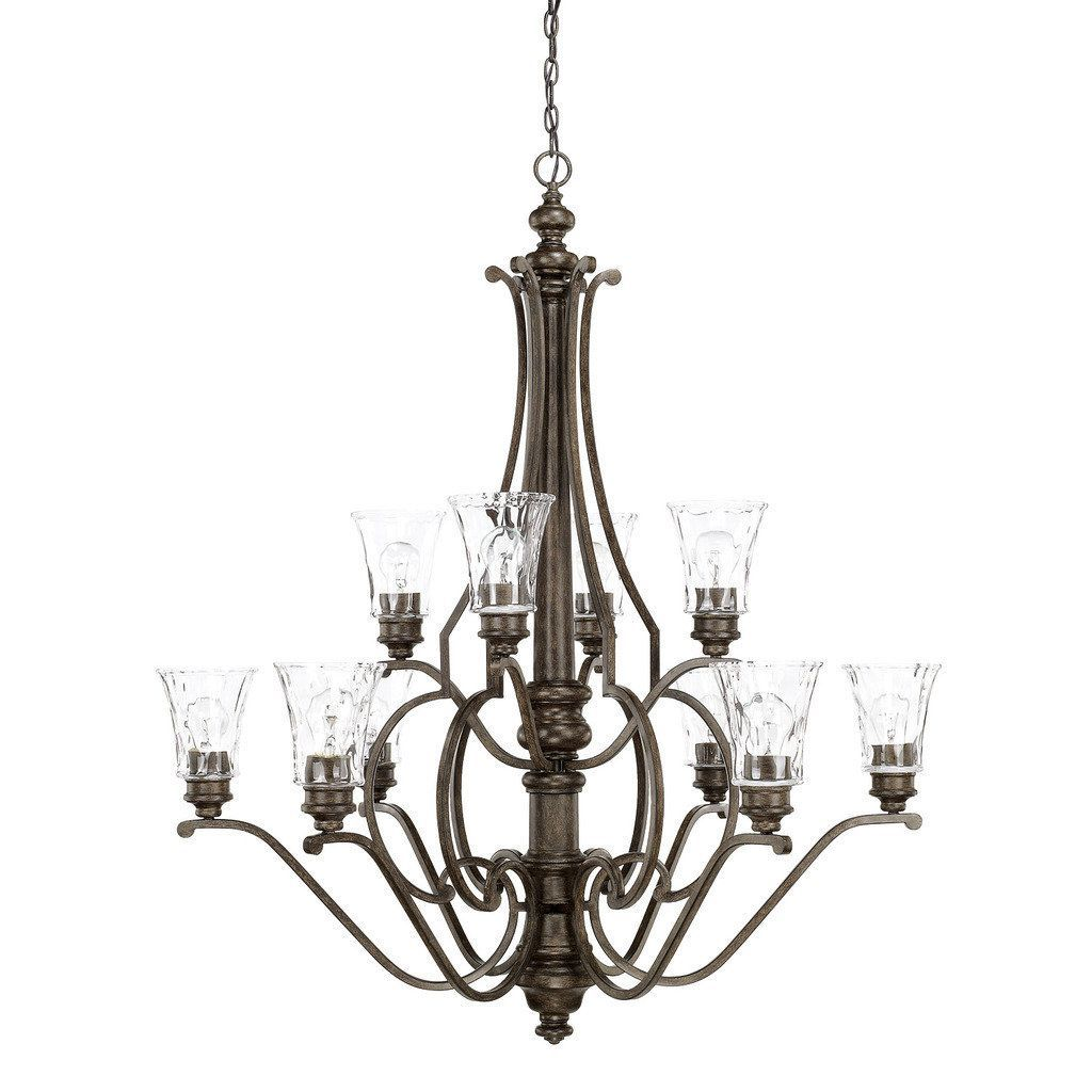 Capital Lighting Sinclaire Collection 10 Light Renaissance Brown