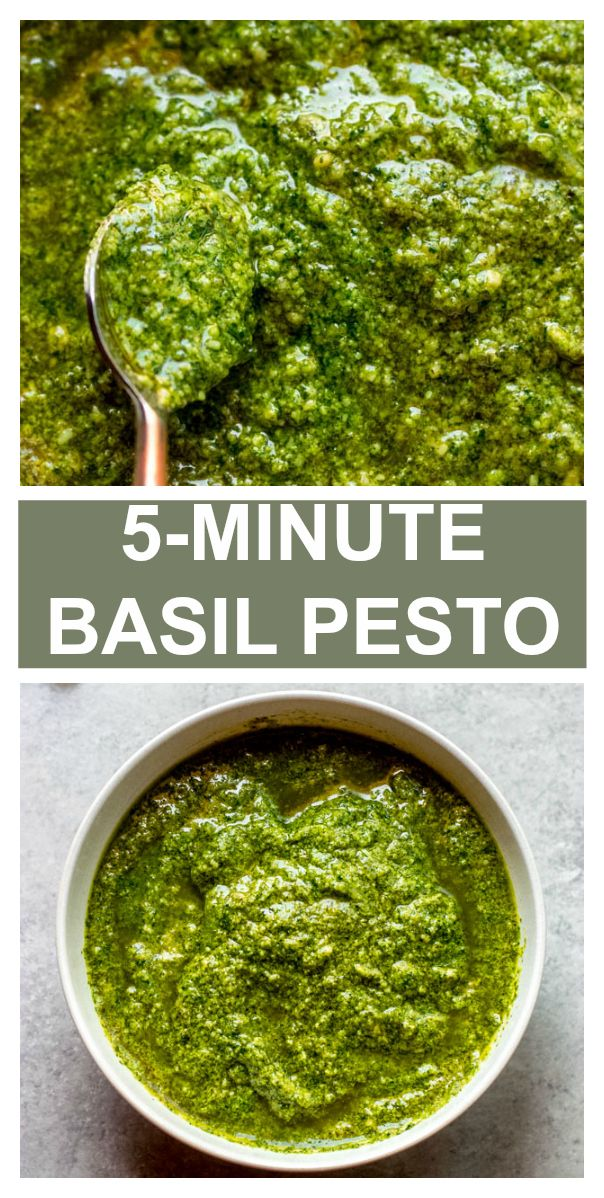 Quick & Easy Basil Pesto