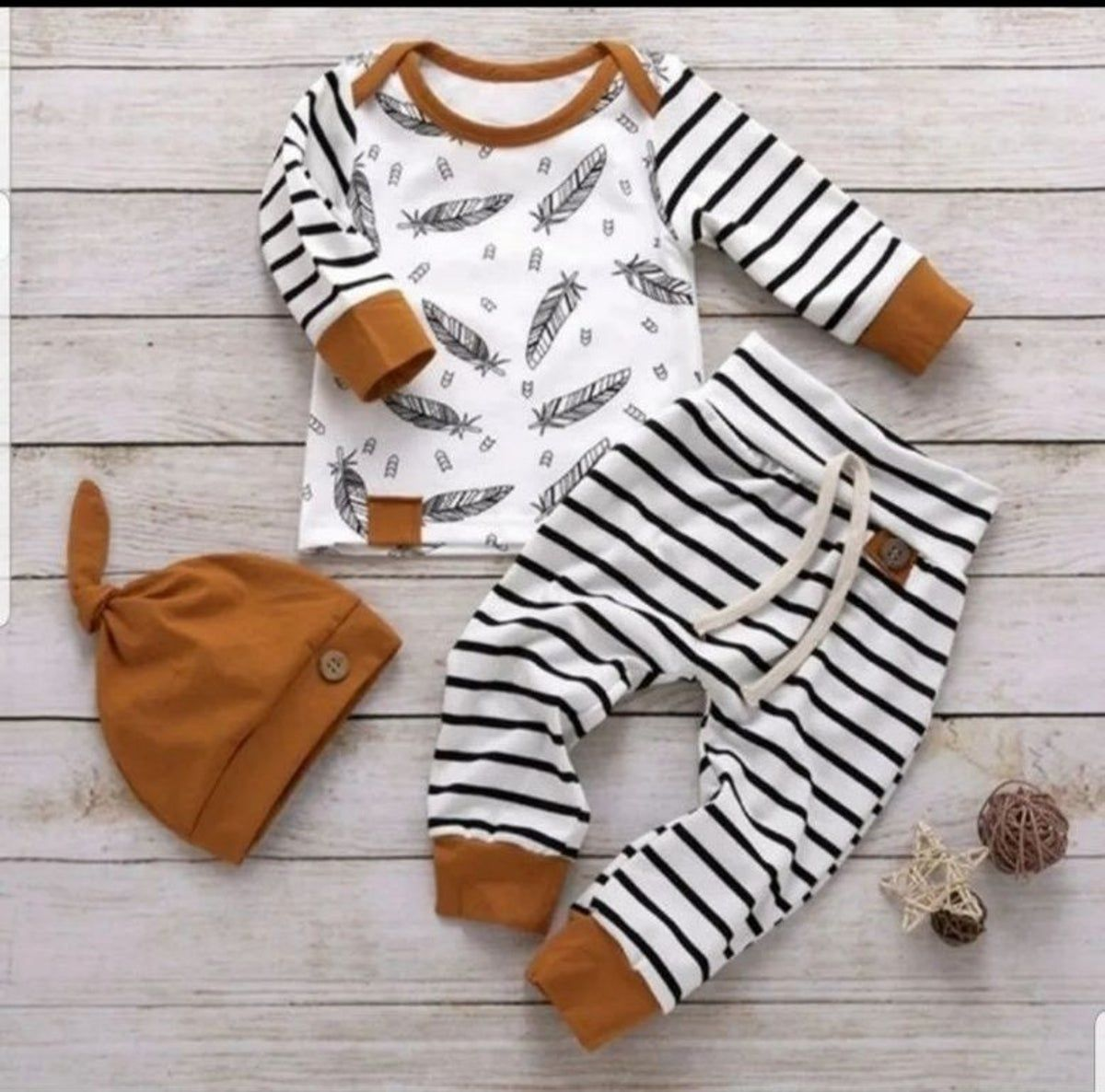Falling Leaves Shirt and Pants Baby Clothing Outfit Preemie and Newborn Sizes