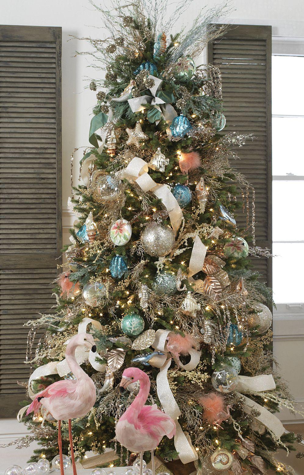 tendencias para decorar tu arbol de navidad 2017 2018 azul y listones blancos awesome. Black Bedroom Furniture Sets. Home Design Ideas