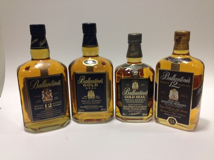 Currently At The Catawiki Auctions Ballantine S 12 Years Collection 1980 S 1990 S 2000 S 4 Different 12 Y O Ballantine S