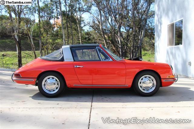 1968 porsche 912 soft window targa orange porsche for 1968 porsche 912 targa soft window