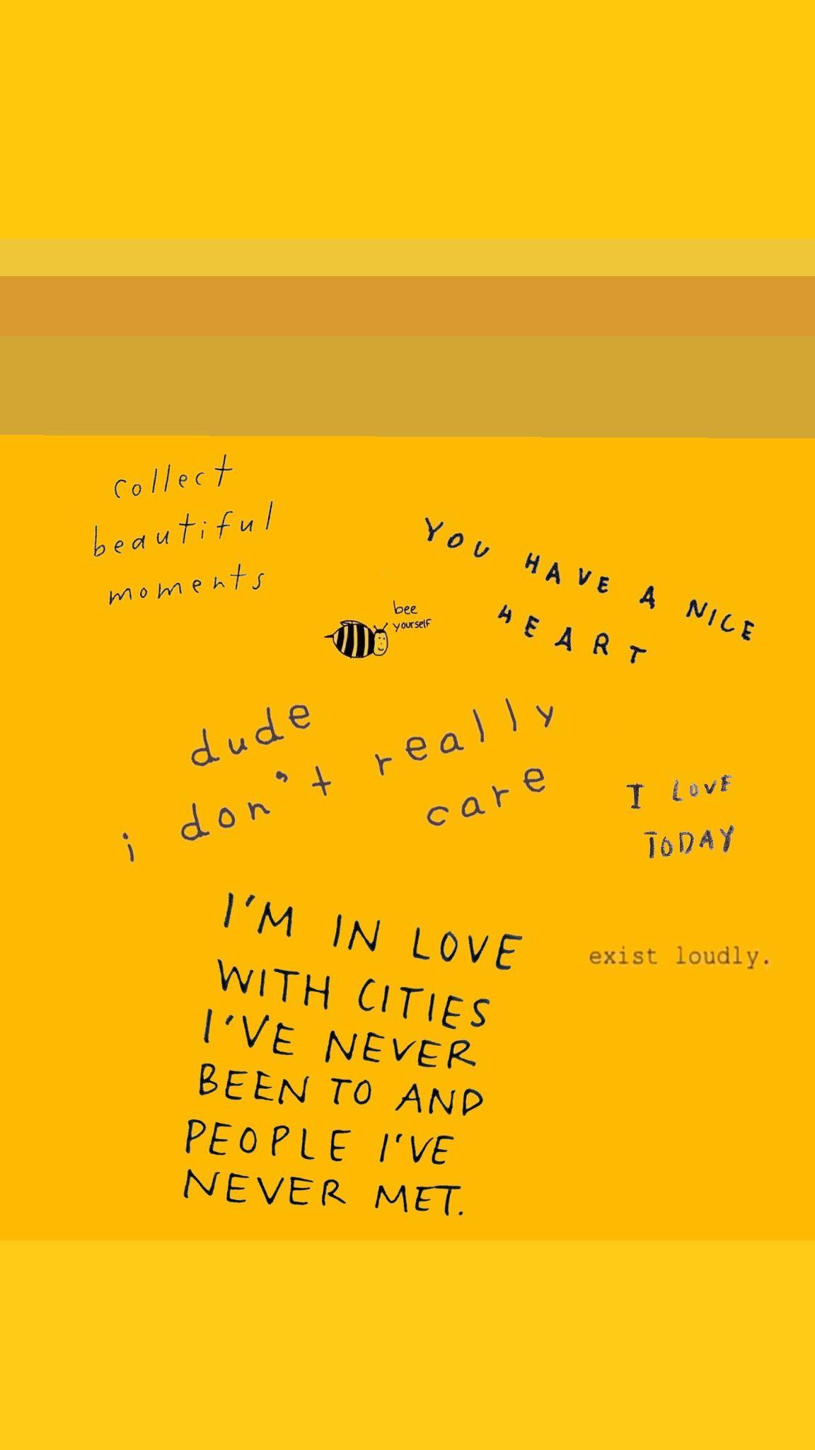 Yellow Aesthetic Wallpaper Iphone Quotes Gambar Dinding Gambar Kata Kata