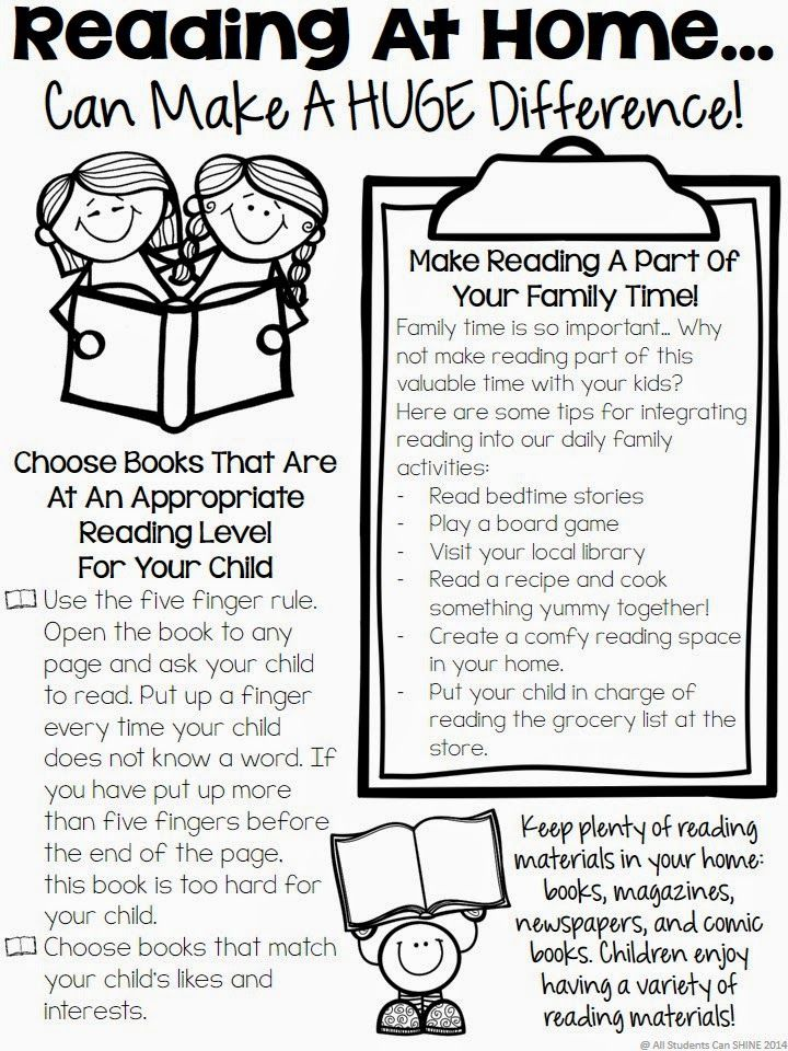 Reading At Home - Tips For Parents   Parents, Students and School