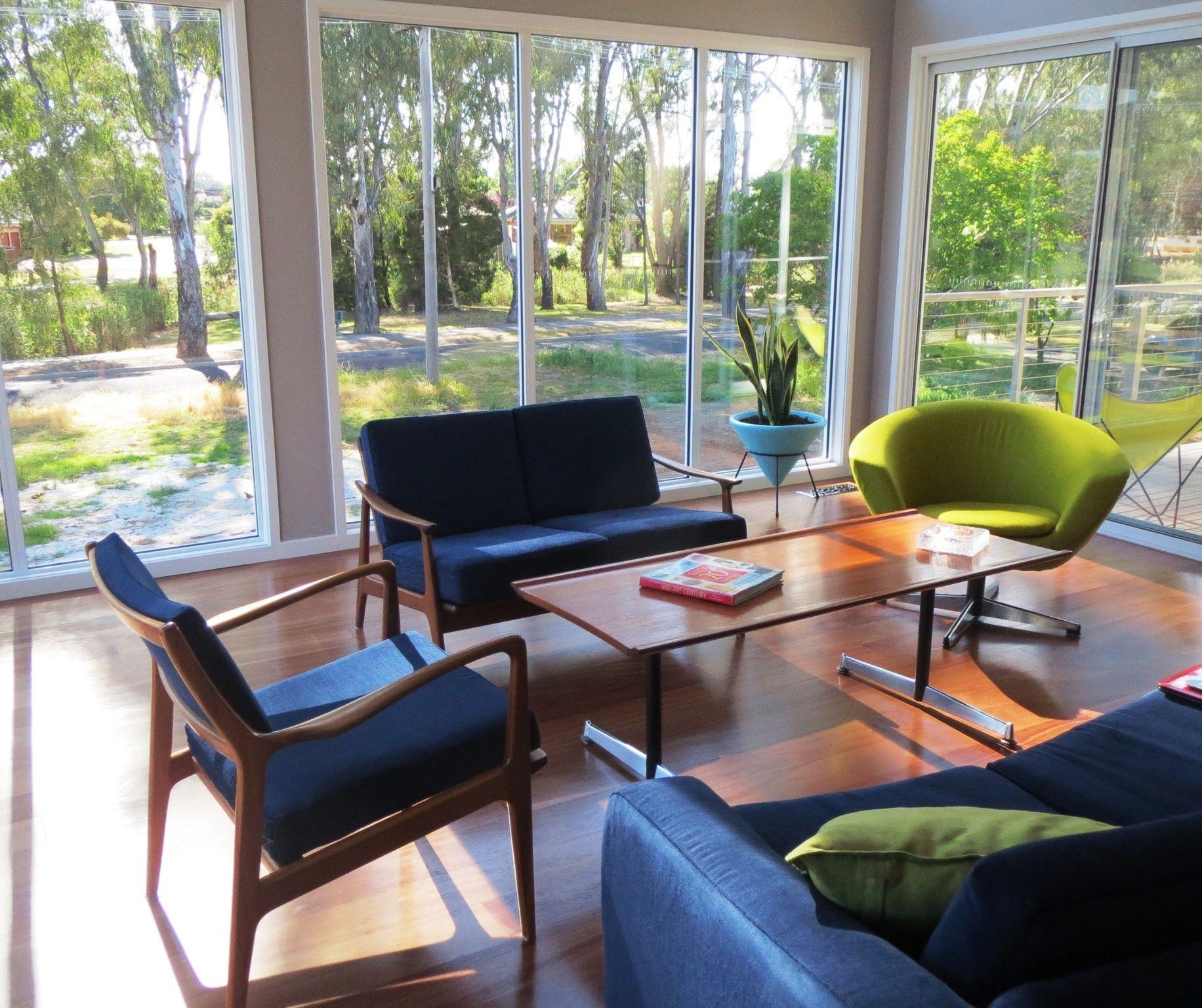 Classic Australian Designed Furniture In The Morning Light. Rosando Easden  Parker Fler