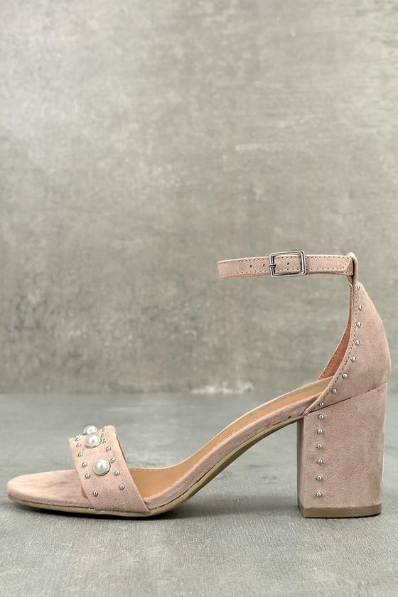 Lulus Alana Champagne Satin Ankle Strap Heels - Lulus i5RMoAN