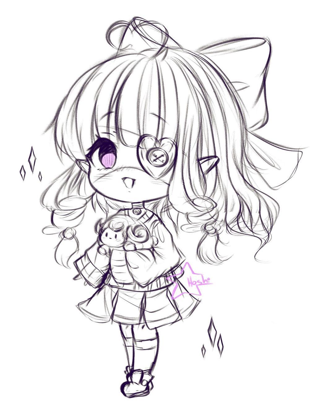Chibi Sketch Japanese Street Fashion Part 2 Please Don T Steal Trace Or Using My Art Without My Permission An Chibi Sketch Anime Drawings Cute Chibi